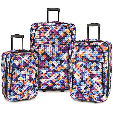 Elite Luggage 3-Piece Expandable Rolling Luggage Set