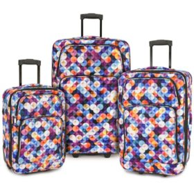 Elite Luggage 3-Piece Expandable Rolling Luggage Set