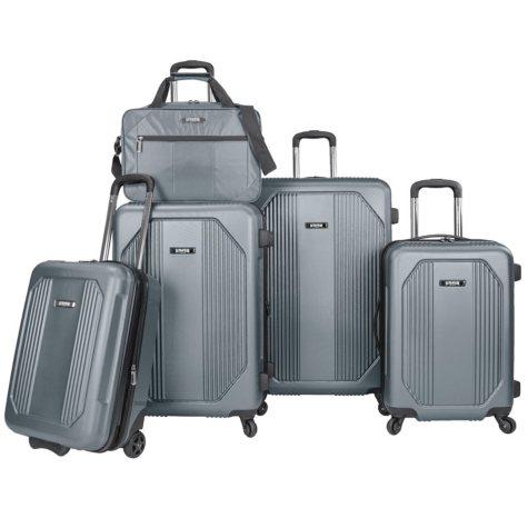 U.S. Traveler Bloomington 5-Piece Spinner Luggage Set