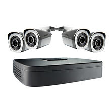 Lorex 4 Channel 1080p HD IP NVR Surveillance System, 4 1080p Weatherproof Bullet Cameras with 130' Night Vision