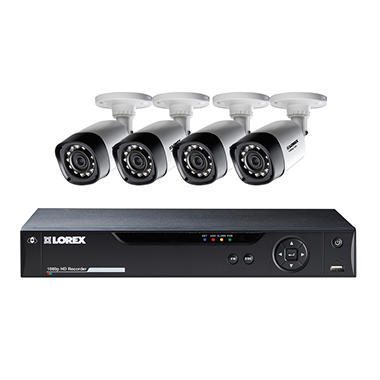 Lorex 8 Channel 1080p Surveillance System with 1TB HDD and 4 HD 1080p Weatherproof Cameras with 130' Night Vision