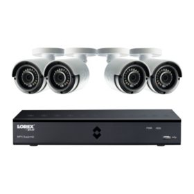 Security systems sams club lorex 8 channel 4mp dvr surveillance system with 1tb hard drive 4 camera solutioingenieria Choice Image