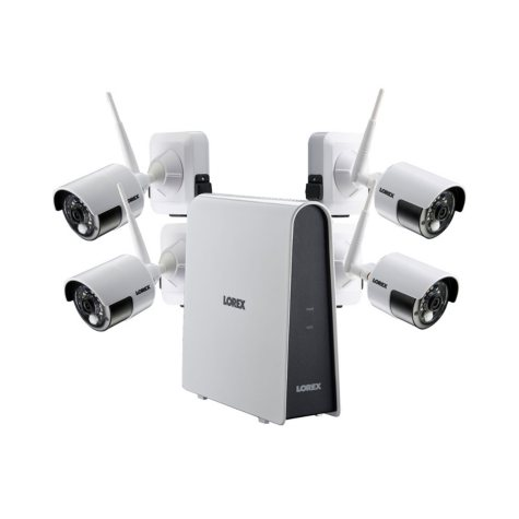 Lorex 6-Channel Wire-Free 1080p HD Security System with 16GB Hard Drive, 4 Wire-Free Cameras with Rechargeable Battery Packs