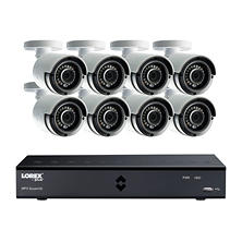Lorex 8-Channel 4 Mega Pixel DVR Surveillance System with 1TB Hard Drive and H.264 Video Compression,  8x Weather Resistant 4 Mega Pixel Bullet Cameras with 89° Viewing Angle and 130' Color Enhanced Night Vision