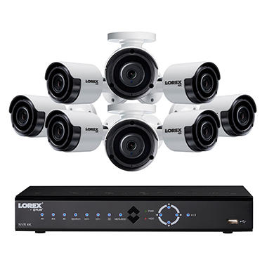 lorex 8 channel 4k nvr surveillance system with 2tb hard drive 8