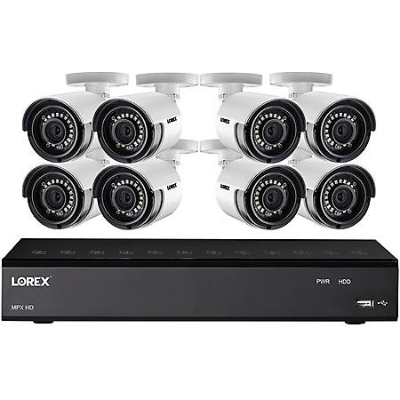 Lorex 8-Channel 1080P HD Security System with 1TB DVR, 8-Camera