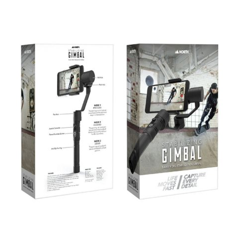 North GoPro 3-Axis Stabilization Gimbal with Adapter