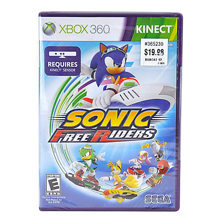 SONIC FREE RD KINECT X360/KIN VIDEO GAME