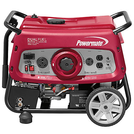 Powermate 3500 Watt Dual Fuel Generator with Electric-Start
