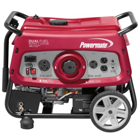 Powermate 3500 Watt Dual Fuel Generator with Electric-Start