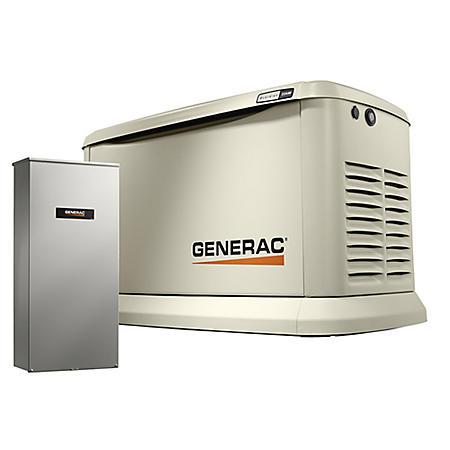 Generac Guardian Series WIFI Enabled 13,000-Watt (LP) / 13,000-Watt (NG) Standby Generator with Automatic Transfer Switch