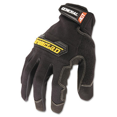 Ironclad General Utility Spandex Gloves, Black (Large)