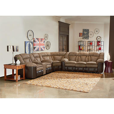 Lane Furniture William 3-Piece Reclining Sectional Sofa  sc 1 st  Samu0027s Club : 3 piece reclining sectional sofa - islam-shia.org
