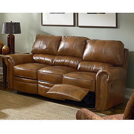 Lane Rockford Leather Double Reclining Sofa - Sam\'s Club