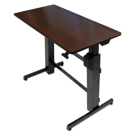 Ergotron WorkFit-D Sit-Stand Desk, Walnut/Black