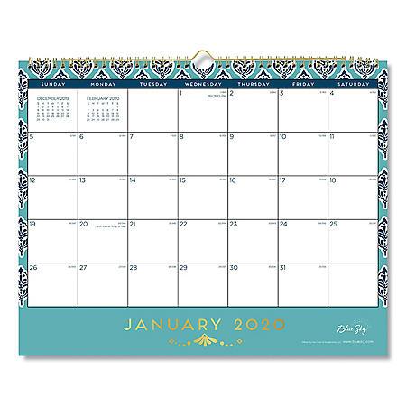 "Blue Sky Sullana Wall Calendar, 15"" x 12"", 2020"