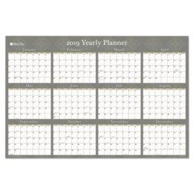 "Blue Sky Adrianna Laminated Calendar, 36"" x 24"", Taupe, 2019"