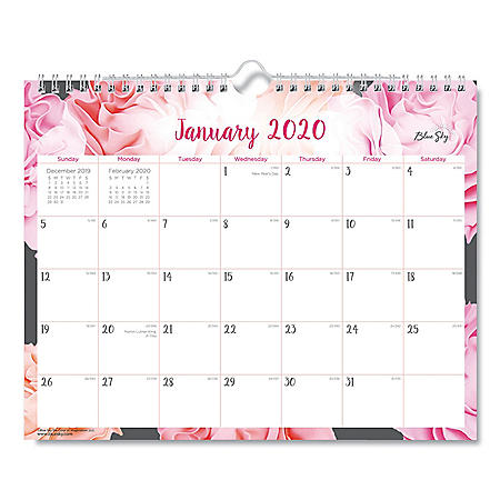 "Blue Sky Joselyn Wall Calendar, 11"" x 8 3/4"", 2020"