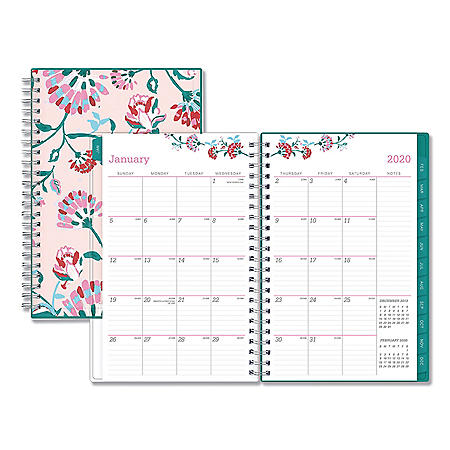 """Blue Sky Breast Cancer Awareness Weekly/Monthly Planner, 8"""" x 5"""", 2020"""