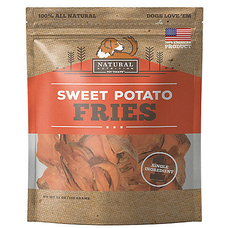 Natural Nutrition Sweet Potato Dog Treats, Single Ingredient, 12 oz., 2 pk. (Choose Fries or Chews)