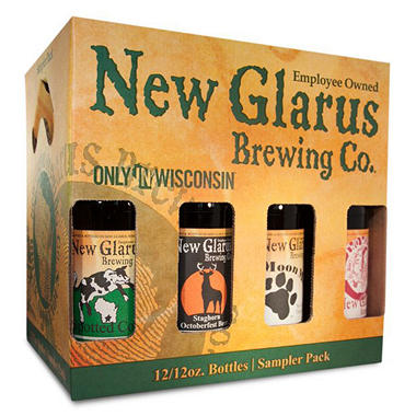 NEW GLARUS SAMPLER 12 / 12 OZ BOTTLES