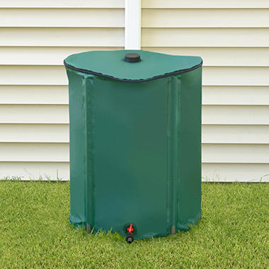 Portable Rain Barrel with Diverter - 52 gal.