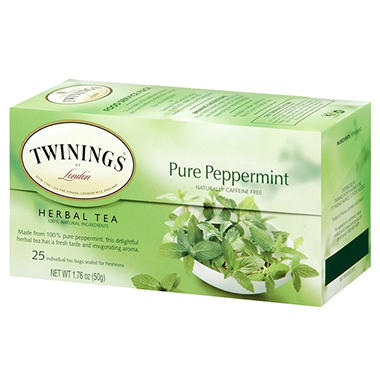 Twinings of Pure Peppermint Tea Bags (6 Boxes, 25 ct.)