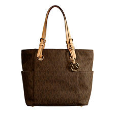 Women's Jet Set E/W Signature Tote Bag by Michael Kors
