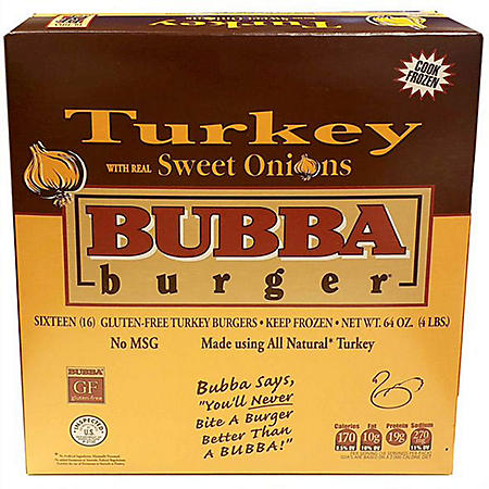 Bubba Turkey Burger with Real Sweet Onions (4 lbs.)