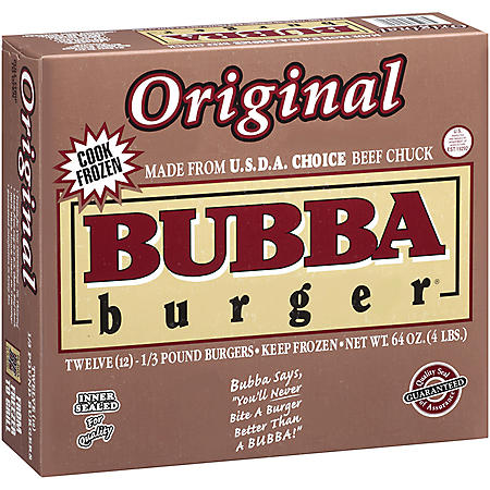 Bubba Burger Original Bubba Burgers  (1/3-lb. patties, 12 ct.)