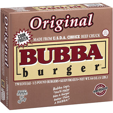 Bubba Burger® Original Bubba Burgers® - 1/3 lb. - 12 ct.
