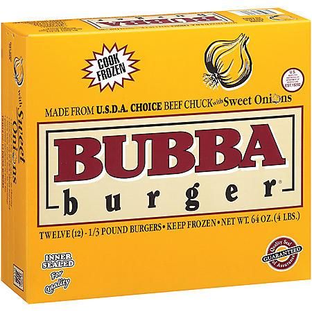 Bubba Burger Sweet Onion Bubba Burger - 1/3 lb. - 12 ct.