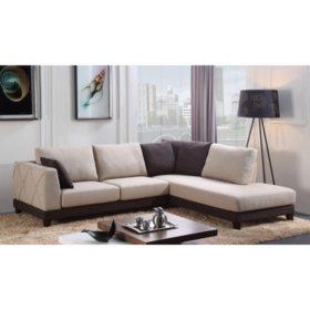 Paris 2 Piece Sectional Sofa