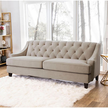 Montaque Tufted Velvet Sofa Orted Colors