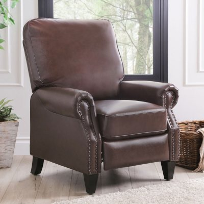 Braxton Leather Pushback Recliner (Assorted Colors)