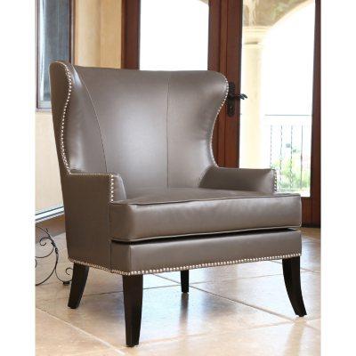Tobi Leather Wingback Chair Sams Club