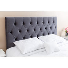 Satine Velvet Upholstered Headboard, Queen/Full (Assorted Colors)