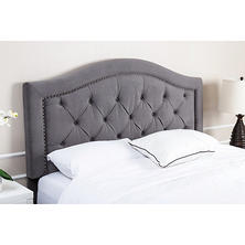 Sullivan Velvet Upholstered Headboard, Grey (Assorted Sizes)