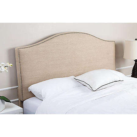 Alexis Wheat Linen Upholstered Headboard, King
