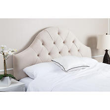 Taylor Tufted Arch Ivory Velvet Headboard (Assorted Sizes)