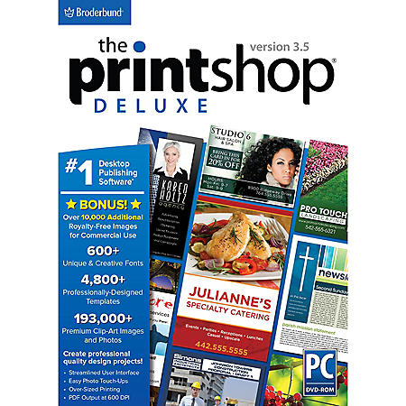 PRINTSHOP 3.5 DELUXE PRODUCTIVTY SOFTWARE