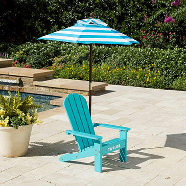 Adirondack Chair with Umbrella - Assorted Colors