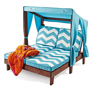 Kidu0027s Double Chaise With Canopy