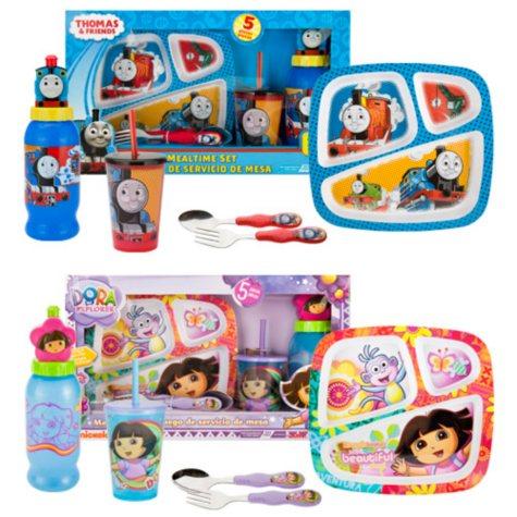 Dora or Thomas Dinnerware Sets - 5 pc.