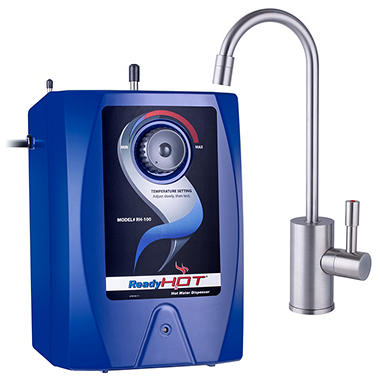 Ready Hot Stainless Steel Hot Water Dispenser System - Includes Brushed Nickel Single Lever Faucet