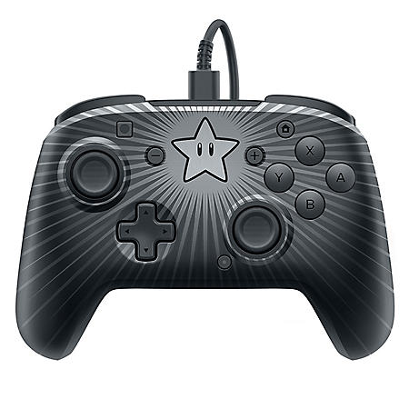 Nintendo Switch Faceoff Super Mario Star Wired Pro Controller