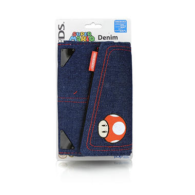 Denim Super Mario Universal System Case for DS, DSi, DSi XL or 3DS