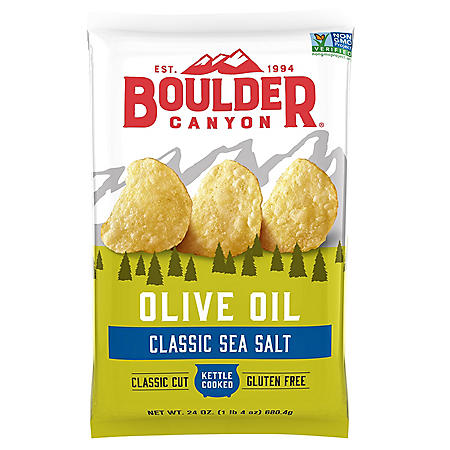 Boulder Canyon Olive Oil Kettle Cooked Chips (24 oz.)