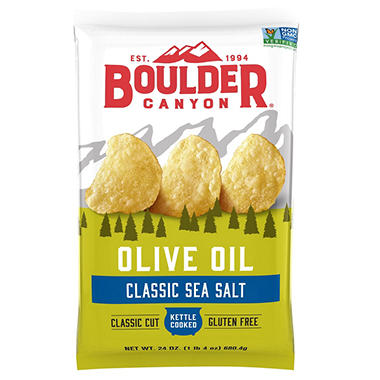 Boulder Canyon Olive Oil Kettle Cooked Potato Chips (24 oz.)