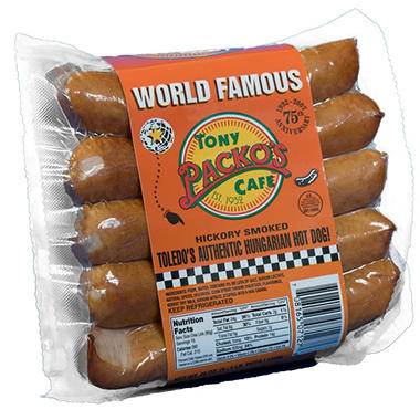 Tony Packo's Cafe Hickory Smoked Natural Casing Hot Dogs (3 pk., 1 lb.)